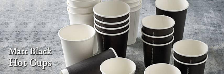 Matt Black Double Walled Takeaway Coffee Cups