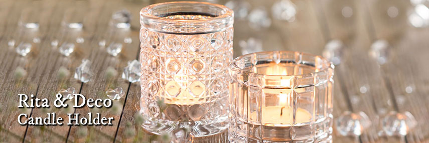 Rita and Deco Candle Glass Holder