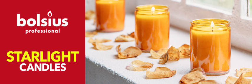 Bolsius Starlight Candles & Holders from Stephensons Catering Suppliers