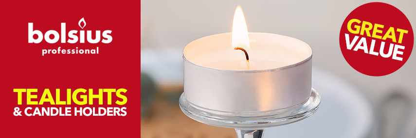 Bolsius Tealights & Candle Holders from Stephensons Catering Suppliers