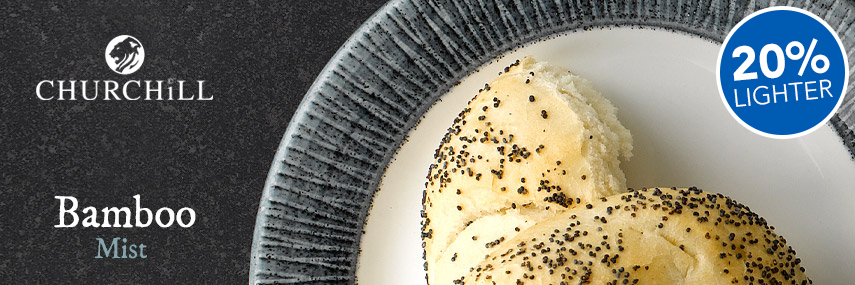 Churchill Bamboo Mist Crockery from Stephensons Catering Suppliers