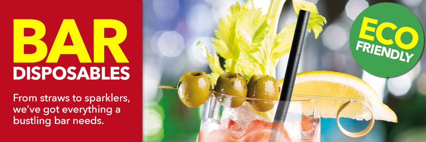 Bar Disposables from Stephensons Catering Suppliers
