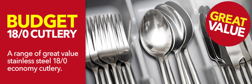 Budget Stainless Steel 18/0 Economy Cutlery