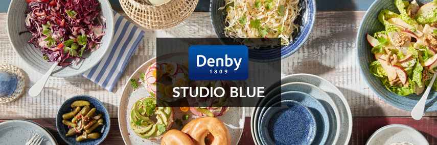 Denby Studio Blue Premium Rustic British Pottery Crockery from Stephensons Catering Equipment