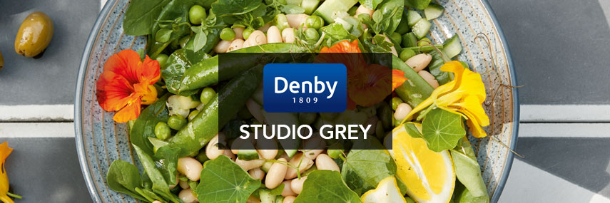 Denby Studio Grey Premium Rustic Coloured Crockery from Stephensons Catering Equipment