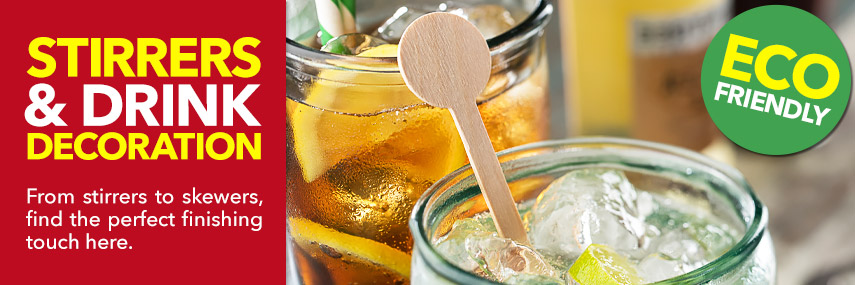 Stirrers and Drink Decoration from Stephensons Catering Suppliers