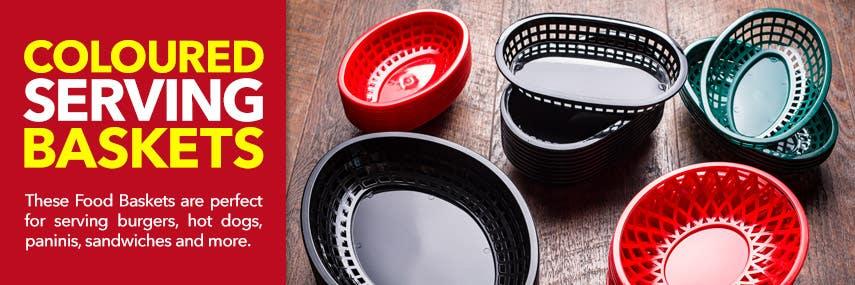 Coloured Food Serving Baskets