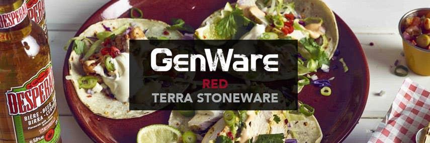 Red Terra Stoneware Banner