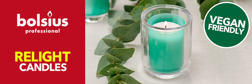 Bolsius Relight Candles & Holders from Stephensons Catering Suppliers