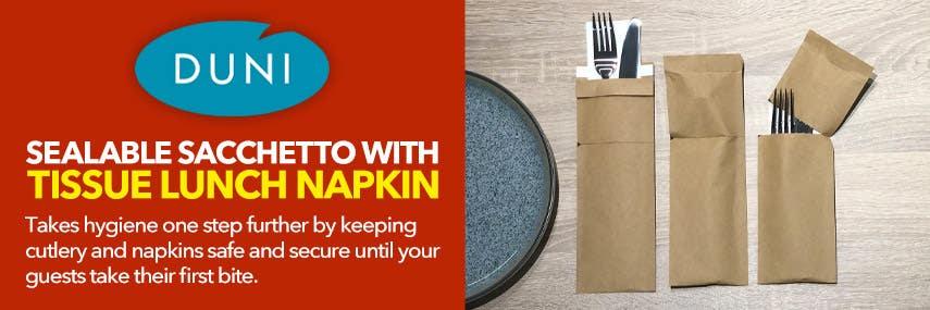 Duni Sealable Sacchetto with Tissue Napkin