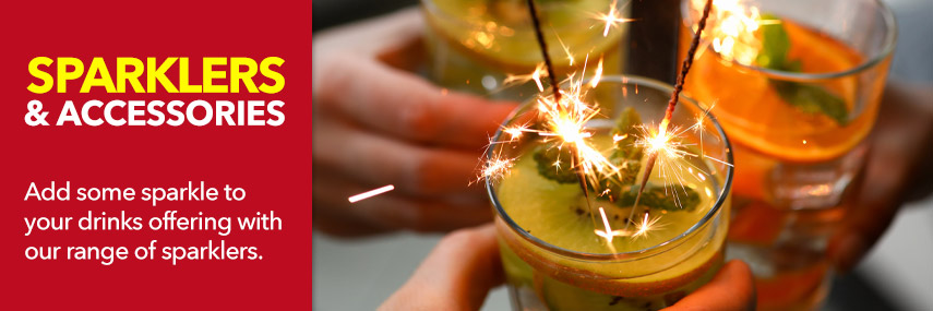 Sparklers and Accessories from Stephensons Catering Suppliers