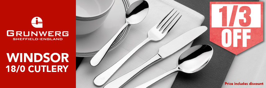 Grunwerg Windsor Contemporary Budget Cutlery from Stephensons Catering Suppliers