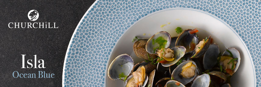 Churchill Isla Ocean Blue Crockery from Stephensons Catering Suppliers