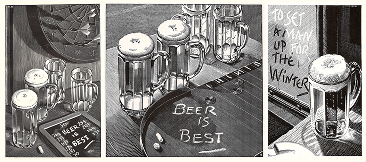 "The Lantern 10-Sided Tankard ""Beer is Best"" Campaign"