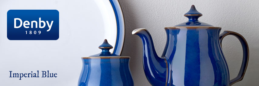 Denby Imperial Blue Premium Rustic Coloured Crockery from Stephensons Catering Equipment
