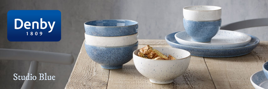 Denby Studio Blue Premium Rustic British Pottery Crockery from Stephensons Catering Equipment