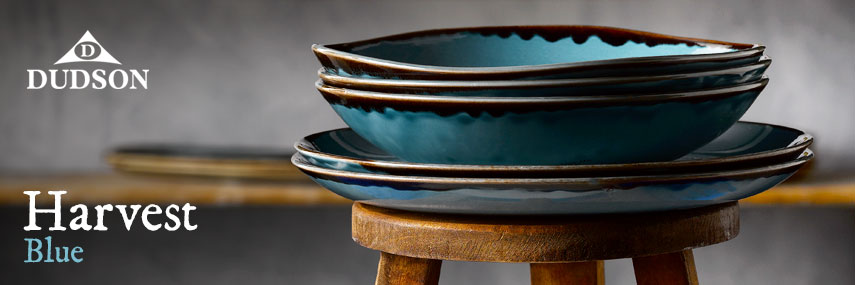 Dudson Harvest Blue Rustic Crockery from Stephensons Catering Suppliers