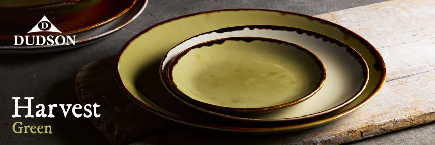 Dudson Harvest Green Rustic Crockery from Stephensons Catering Suppliers