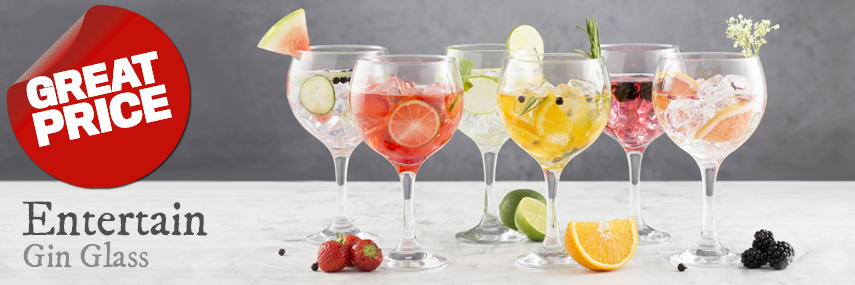 Entertain Gin Glasses from Stephensons Catering Suppliers