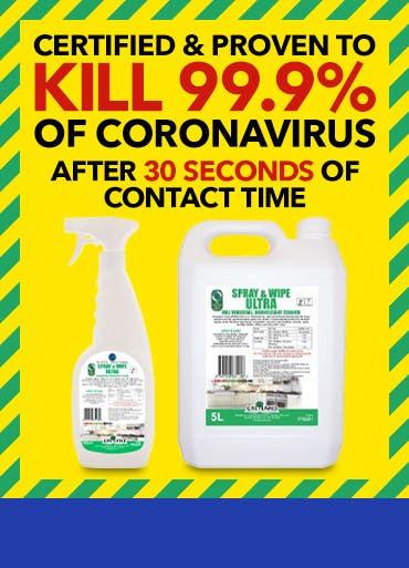 Greyland Spray & Wipe Ultra Sanitiser Disinfectant