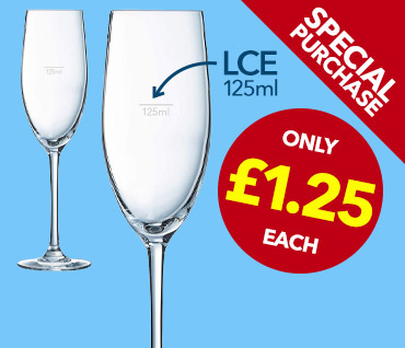 Champagne Flute Special Purchase from Stephensons Catering Suppliers