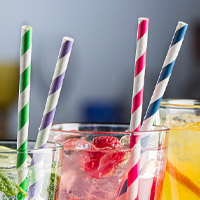 Eco-Friendly Paper Straws from Stephensons Catering Suppliers