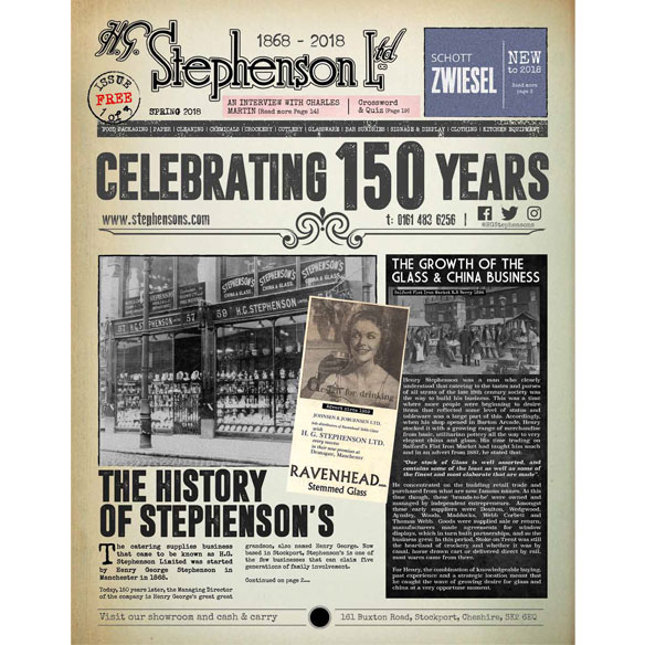 Download the Stephensons Commemorative Newspaper Edition 1