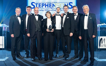 Stephensons; Manchester Evening News Business of the Year 2018