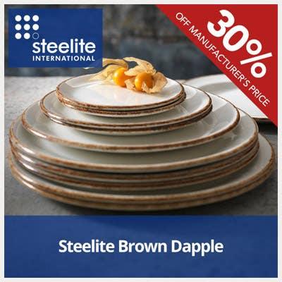 30% Off Steelite Brown Dapple