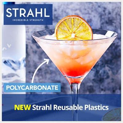NEW Strahl Reusable Plastic Glassware
