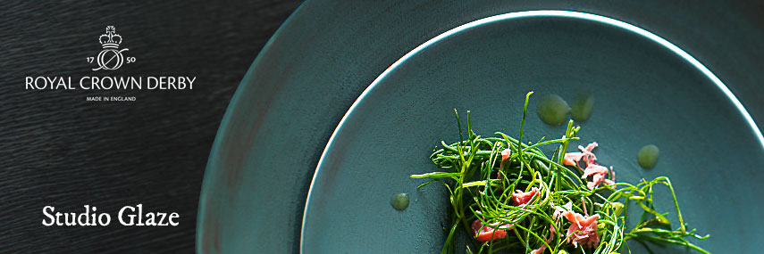 Royal Crown Derby Studio Glaze Premium Crockery from Stephensons Catering Equipment