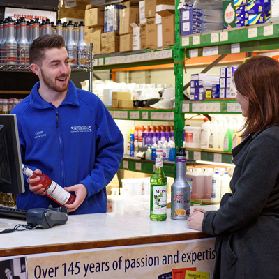 Everyday essentials and consumables are always available in the Stephensons Cash & Carry
