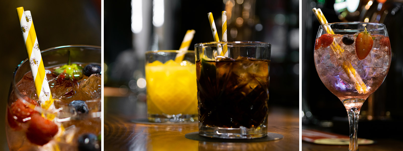 The Manchester Bee Paper Sip Straw is exclusively available from Stephensons Catering Suppliers