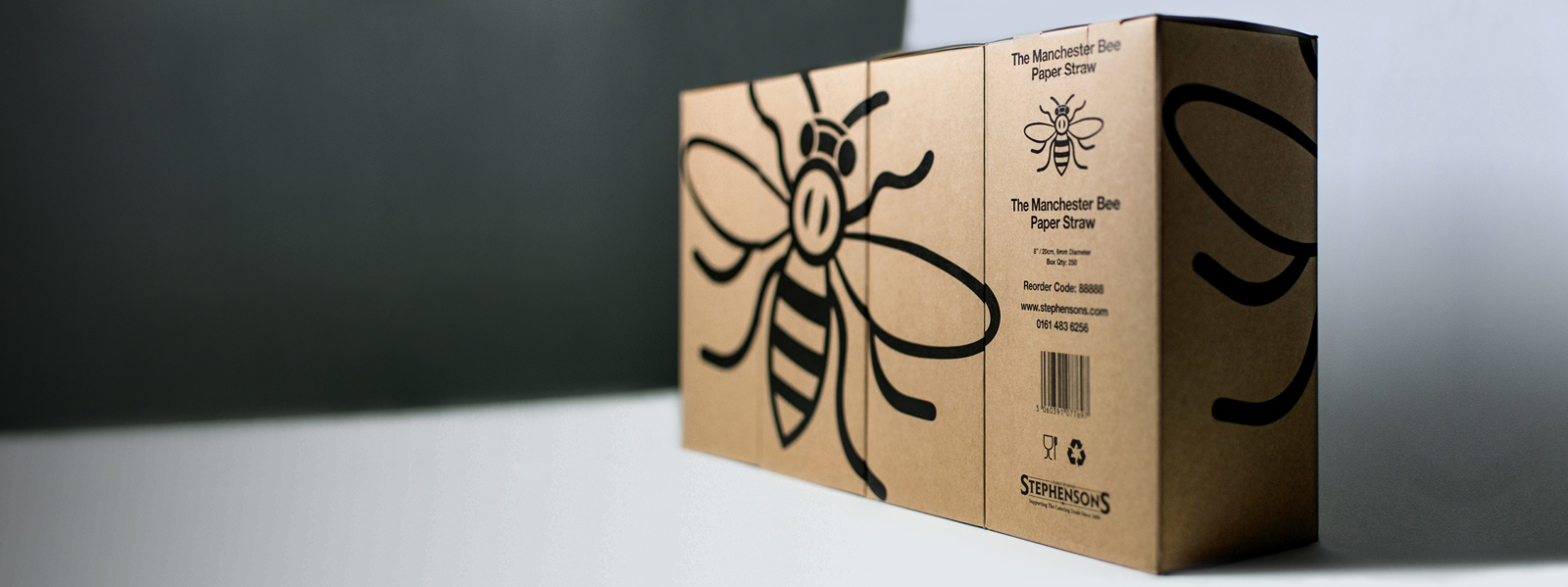 The Manchester Bee Paper Straw