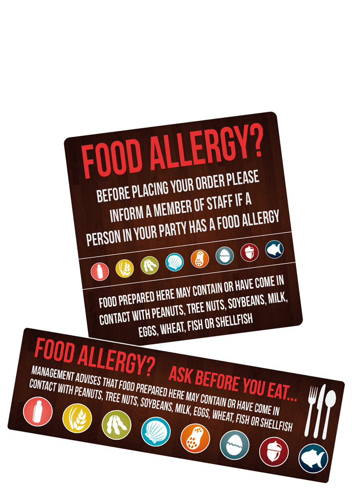 Self Adhesive Food Allergy Sticker Pack from Stephensons Catering Suppliers