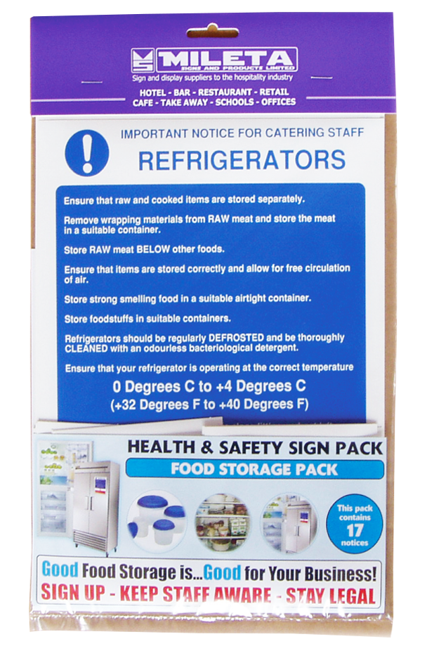 Food Storage Signage Pack from Stephensons Catering Suppliers