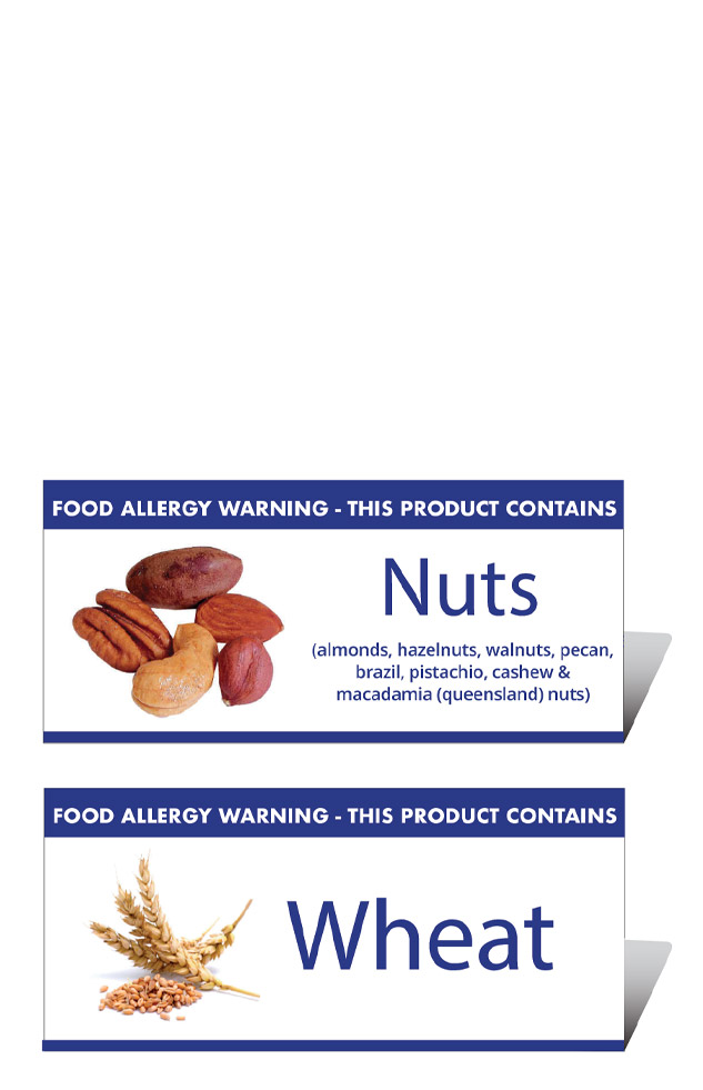 Allergen Tent Table Notices from Stephensons Catering Suppliers