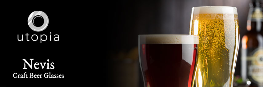 Utopia Toughened Craft Beer Glasses from Stephensons Catering Equipment